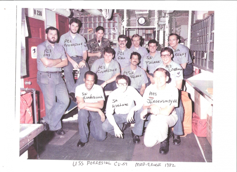 USS FORRESTAL CV 59 POSTAL CREW MED CRUISE 1982 001